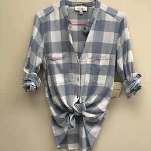 NWT Lucky Brand Checked Gingham Shirt XS